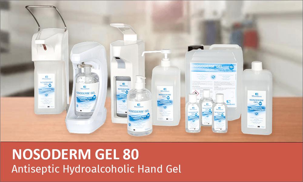 NOSODERM GEL 80 - Antiseptic hydroalcoholic hand gel
