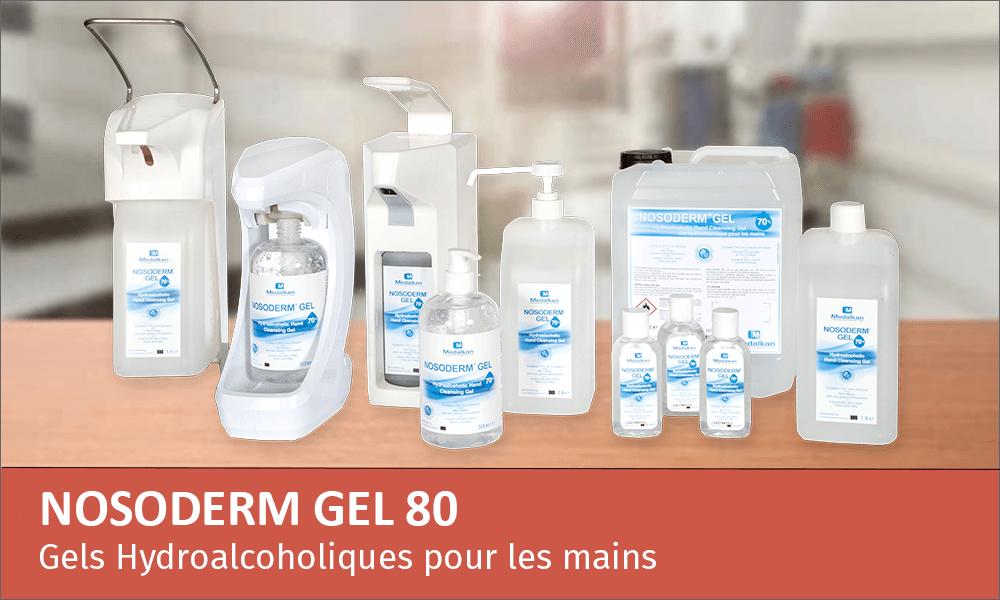 NOSODERM GEL 80 - Gel antiseptique hydroalcoolique pour les mains