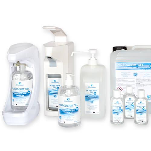 NOSODERM GEL Range of Hydroalcoholic Hand cleansing gel