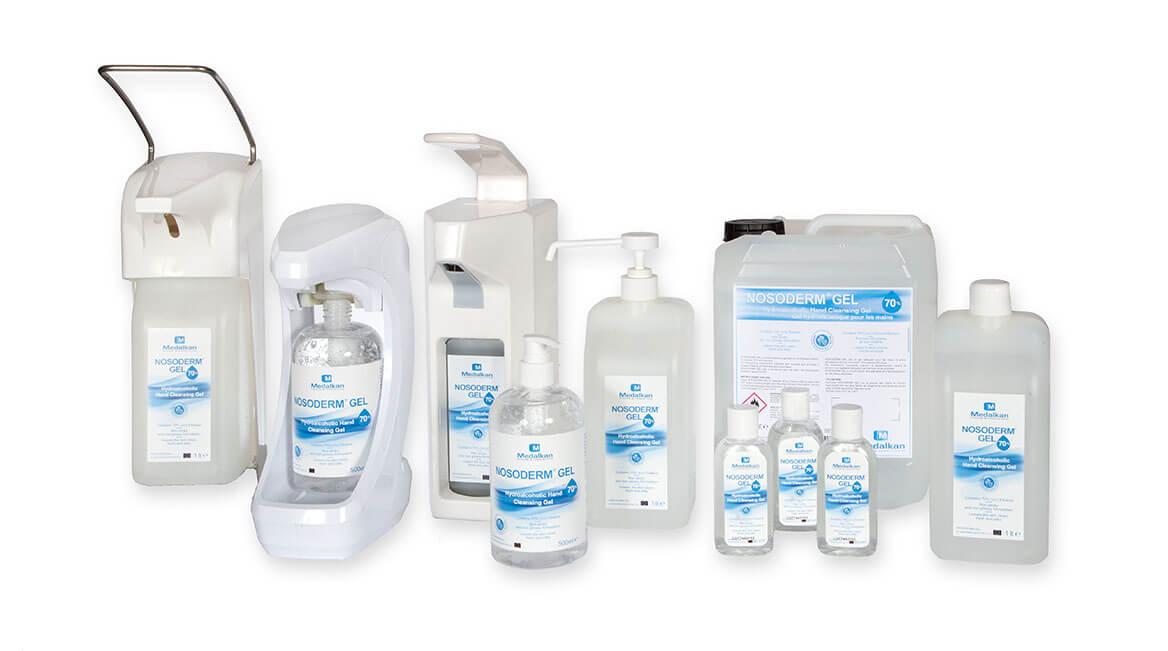 Hydroalcoholic Hand Cleansing Gel - NOSODERM GEL 70%