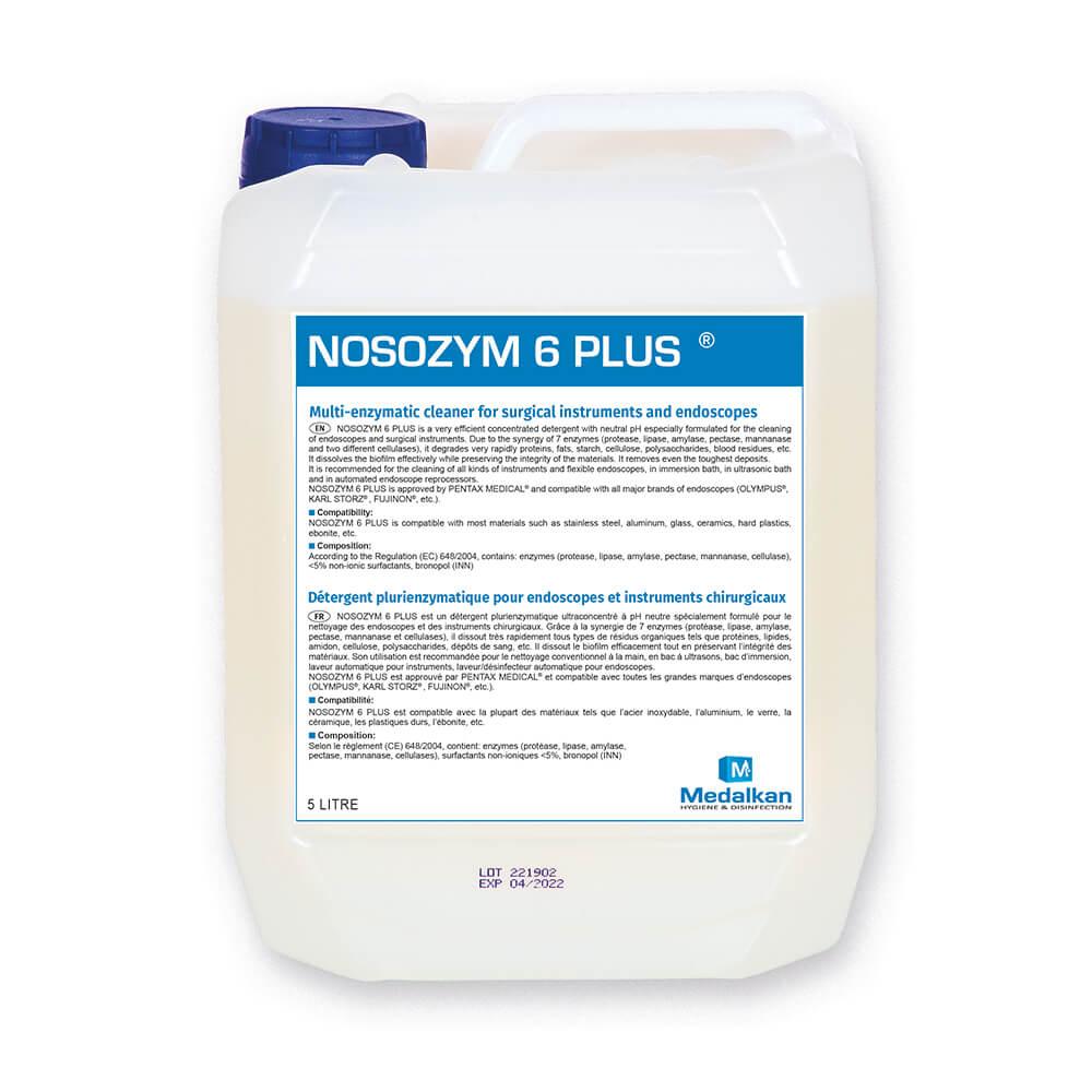 NOSOZYM 6 PLUS - Détergent plurienzymatique pour instruments chirurgicaux et endoscopes
