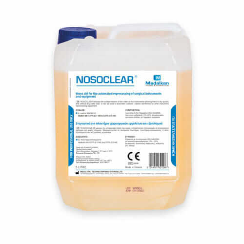 NOSOCLEAR - Rinse aid for the automated reprocessing of surgical instruments and equipment